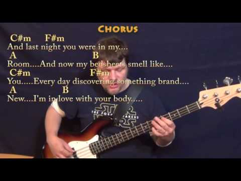 Shape of You (Ed Sheeran) Bass Guitar Cover Lesson in C#m with Chords/Lyrics