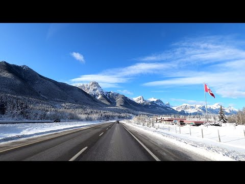 Beautiful Town Canmore In Canadian Rocky Mountains - Alberta.