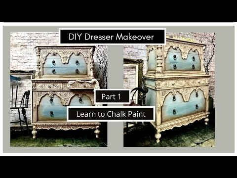 Chalk Paint Color Wash Technique and Glaze for an Old World Vintage finish (PART 1).
