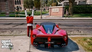 GTA 5 REAL LIFE MOD#91-DRIVING TO COLLEGE IN A LAFERRARI