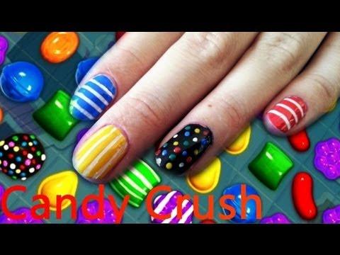 Nail Art Candy Crush Freng Youtube