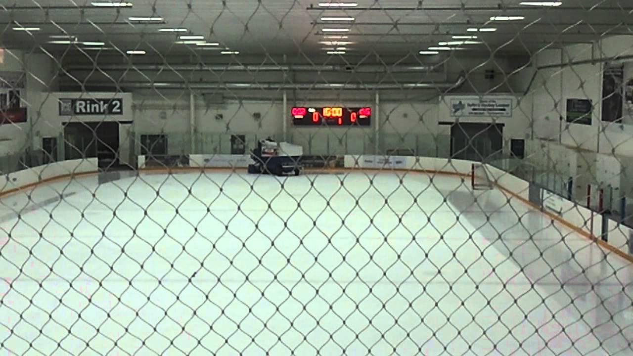 Zamboni Cleaning Ice Arena Youtube