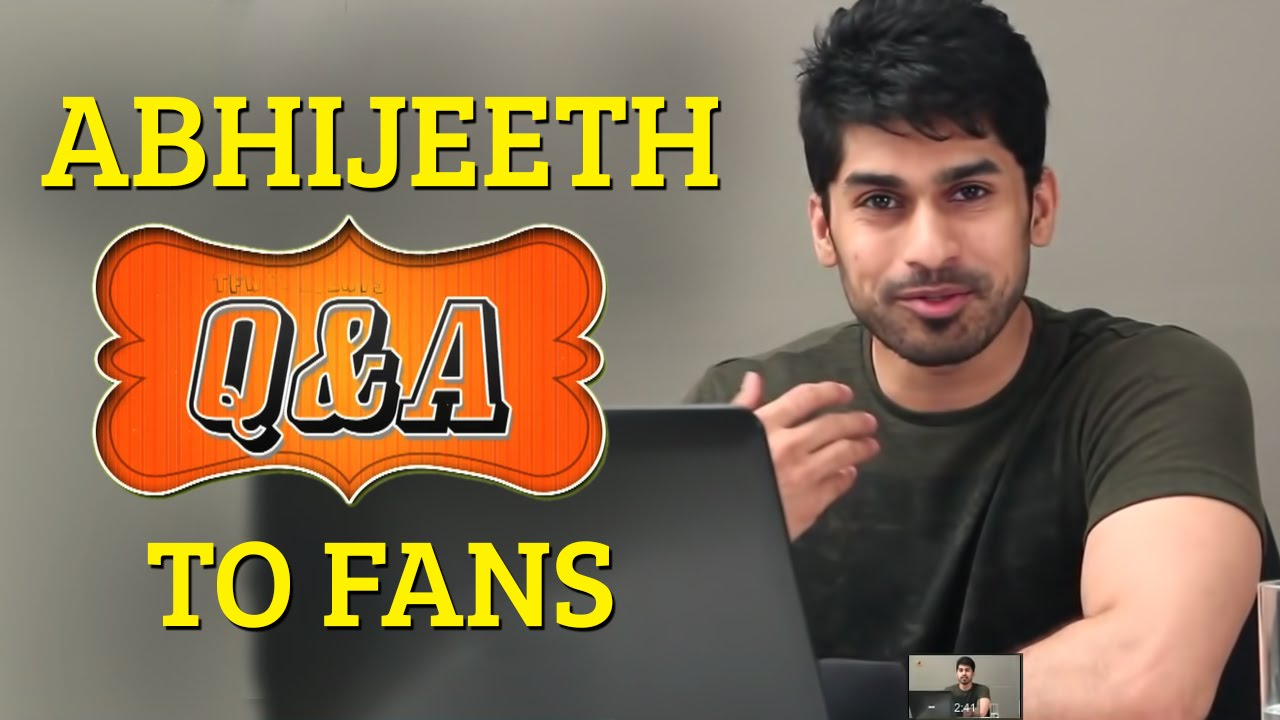 Abhijeeth Poondla Answers To Fans Abhijeeth Poondla Youtube