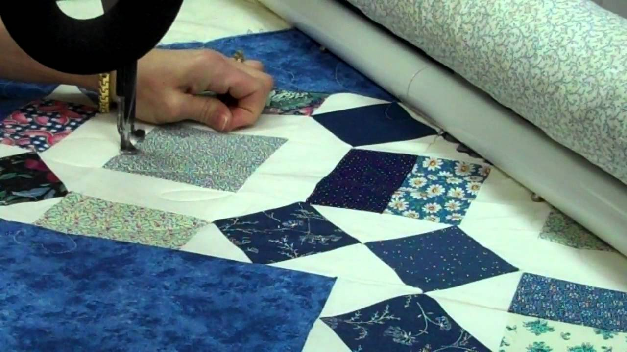 HQ-18 Avante' & Pro-Stitching quilting a edge to edge with ... : hq18 avante quilting machine - Adamdwight.com