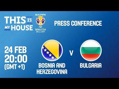 Bosnia and Herzegovina v Bulgaria - Press Conference
