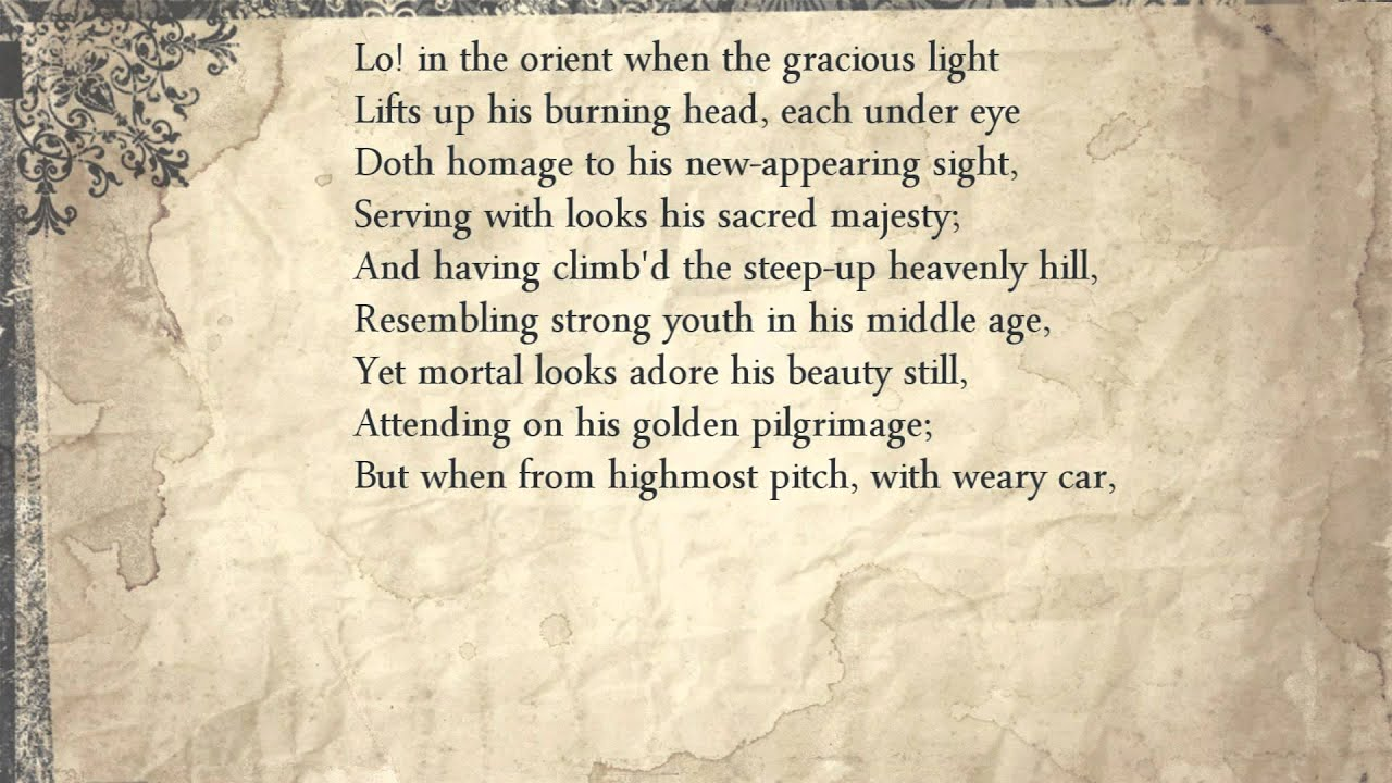 theme of lasting legacy in shakespeares sonnet 8 Actually understand shakespeare's sonnets sonnet 4 read every line of shakespeare's original text alongside a modern english translation.