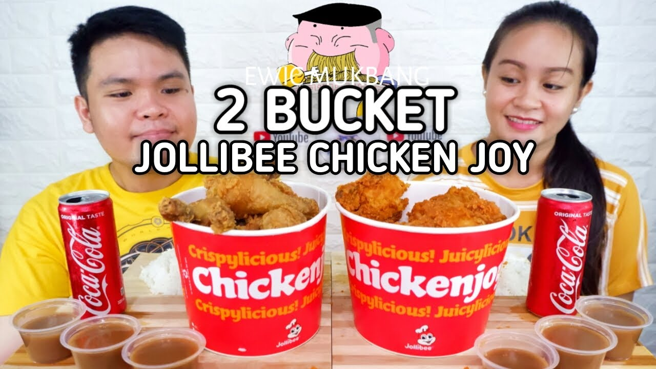 2 Bucket Jollibee Chicken Joy And Gravy Mukbang / Filipino Food Mukbang Collab @Arvin De Chavez