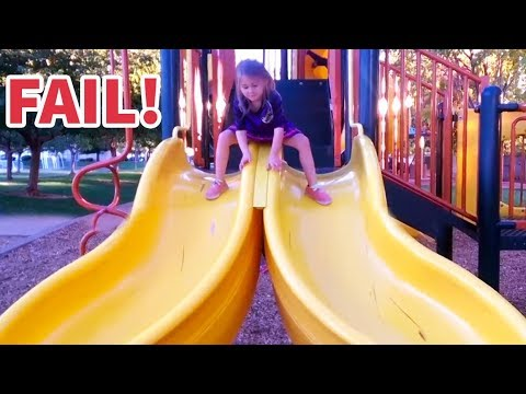 FUNNIES KIDS Slides FAILS! - LAUGH Extremely hard!