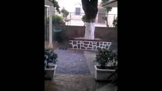 Rhodos stad in de regen