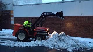 Schneeräumung Kubota B 1500 Allrad Traktor_1.2019