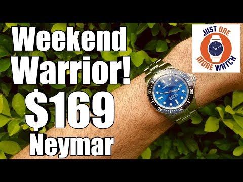 Perfect Weekender? 100 BAR WR, 10 Year Battery, $169 - Neymar