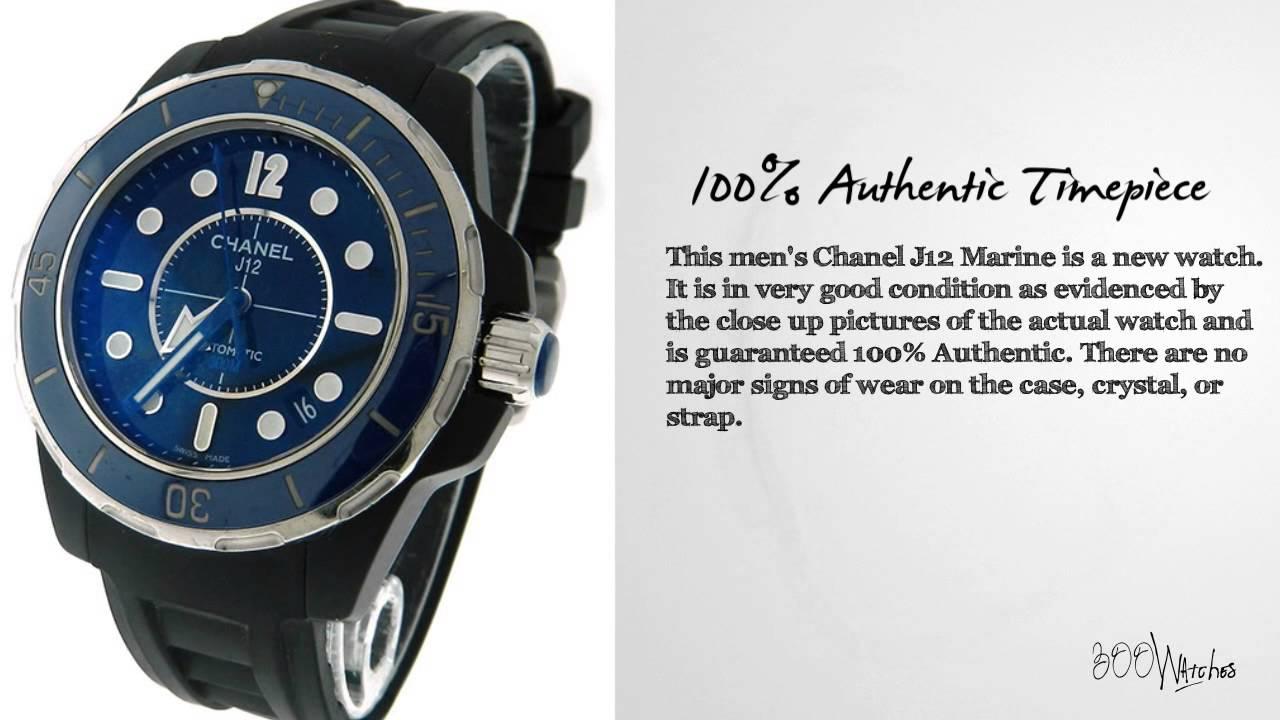 men s chanel j12 marine black ceramic blue bezel automatic date men s chanel j12 marine black ceramic blue bezel automatic date 39mm watch