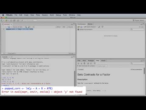 Experiments 3B - Solving the mathematical model for a 2 factor experiment using software