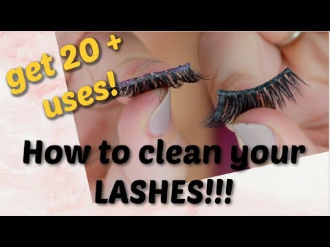 How to clean false eyelashes, how to get the most out of your lashes