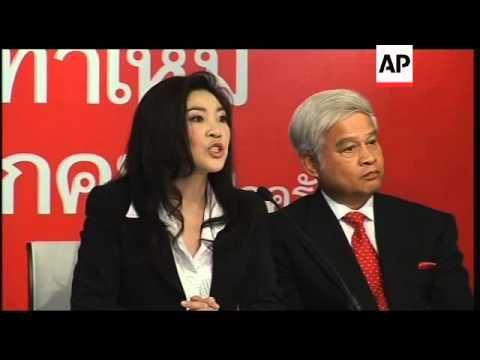 Ousted Thai leader's sister named PM candidate