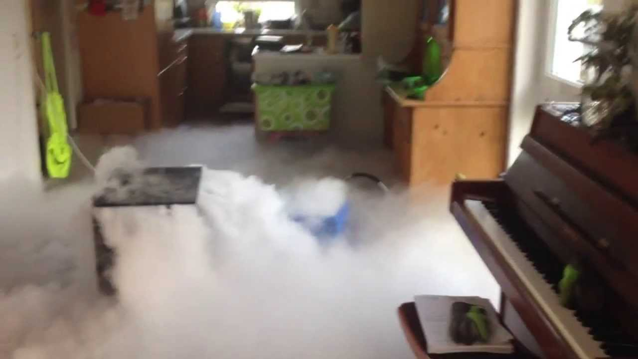 trockeneis-nebelmaschine / dryice-fogmaschine - youtube