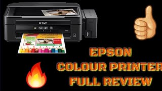 How To Use Epson L210  colour printer & Best Ink tank colour  Copy scan & Print