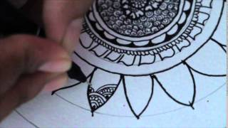 Speed Drawing  a Dreamcatcher. Henna style