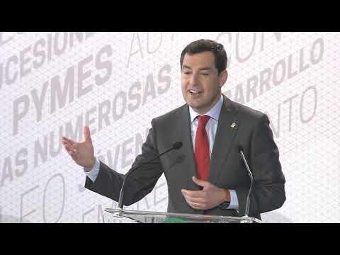 Intervención de Juanma Moreno en el acto de firma el decreto ley de bajada de impuestos en Andalucía