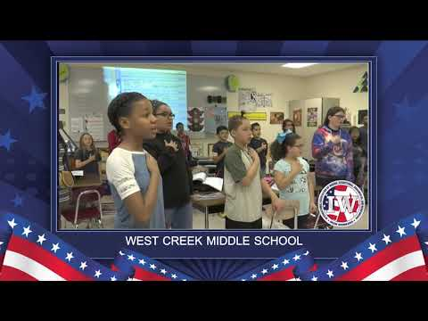 The Morning Pledge: West Creek Middle School