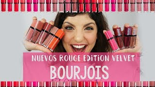 OPINIÓN Y SWATCHES DE LOS NUEVOS ROUGE EDITION VELVET DE BOURJOIS + lip art | Opinión honesta (AD)