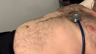 ASMR male heartbeat and stomach tummy sounds stethoscope fat