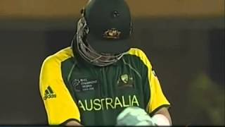 Chris Gayle sledging Michael Clarke   Australia v West Indies at Mumbai 2006 Champions Trophy