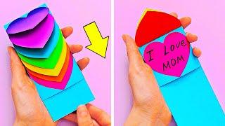 как сделать красивую открытку на день мам своими руками