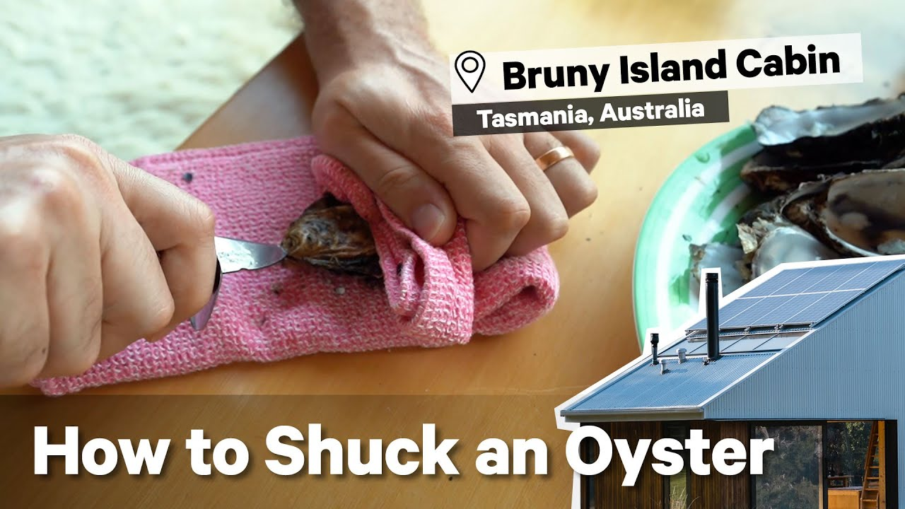 How To Shuck An Oyster! 🦪 At Bruny Island Hideaway Cabin, Tasmania. Get Shucked with Jonno Rodd