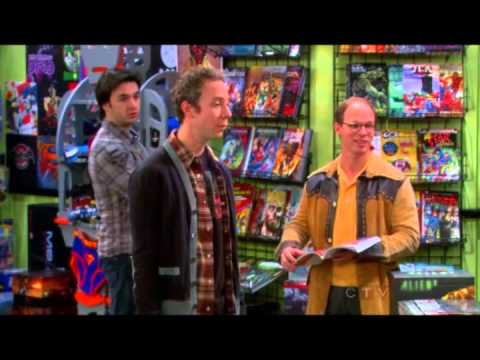 Big Bang Theory girls go to the Comic Book Store & give all the blokes a heart attack.