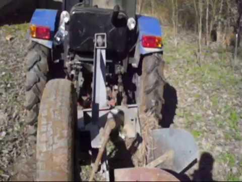 Мой самодельный трактор Поездка на дачи с плугами. A trip to the garden with plows.