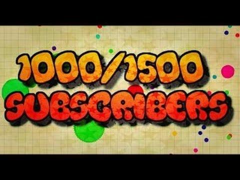 1,000 Subscriber Montage // Agar.io // Road To 2K :D
