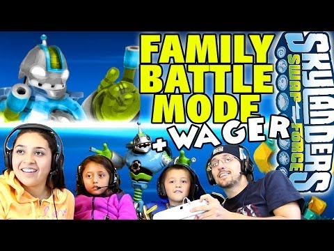 4 Player Swap Force Battle Mode: Family Food Wager + Bouncer