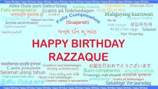 Razzaque   Languages Idiomas - Happy Birthday