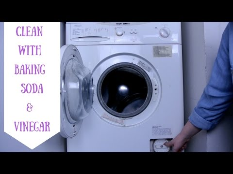 HOW TO CLEAN A WASHING MACHINE || BAKING SODA & VINEGAR
