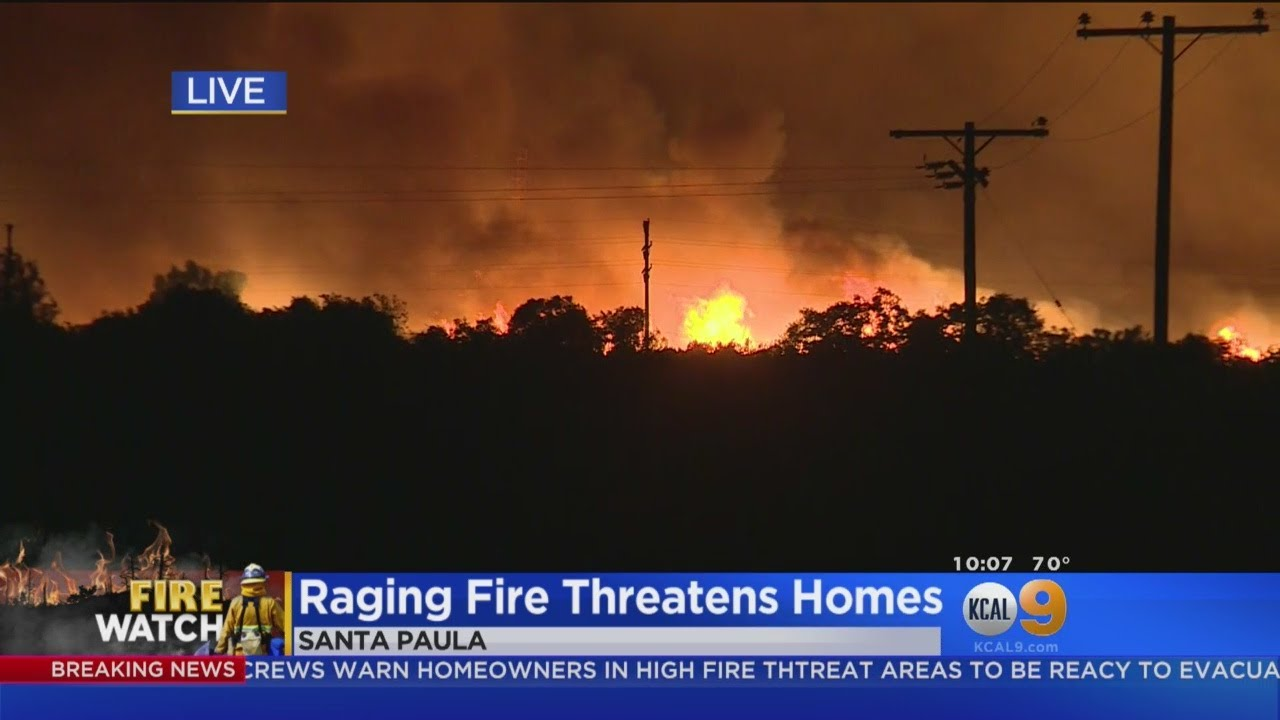 Thomas Fire Roars Back To Life