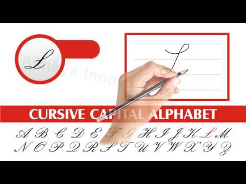 How to write Uppercase Cursive letters for left handed, Cursive ...