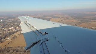 American Eagle (Envoy) Embraer ERJ-140 [N844AE] descent and landing in MHK
