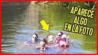 Fueron al lago y al ver las fotos vieron algo terrorífico detrás de ellos