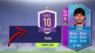 FIFA 18 *NEW* KAKA 92 END OF AN ERA SBC!! COMPLETING KAKA SBC😱