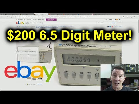 EEVblog #1184 - Ebay $200 6.5 Digit Meter Search