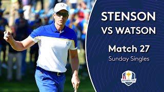 Stenson vs Watson   Sunday Singles   2018 Ryder Cup