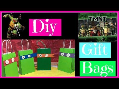 DIY TMNT Gift Bags Party