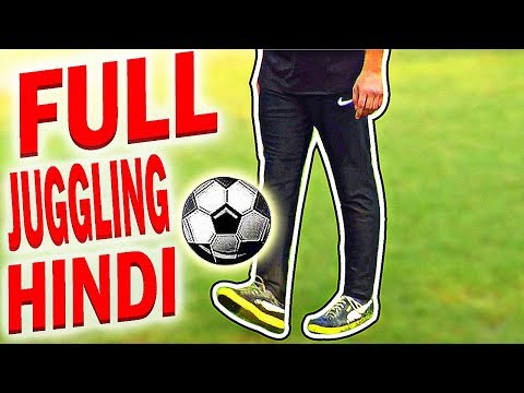 How To Juggle Football or soccer ball  learn juggling basics for beginners and Kids Tutorial