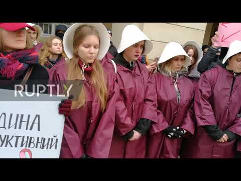 Ukraine: Lviv Int. Women's Day march draws hundreds to the streets