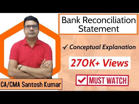 Bank reconciliation statement  ( BRS ) by Santosh kumar (CA/CMA)