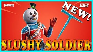 "NEW ""SLUSHY SOLDIER"" SKIN in FORTNITE - NEW ""BACKSTROKE"" EMOTE // CLOSE ENCOUNTERS with SUBS"