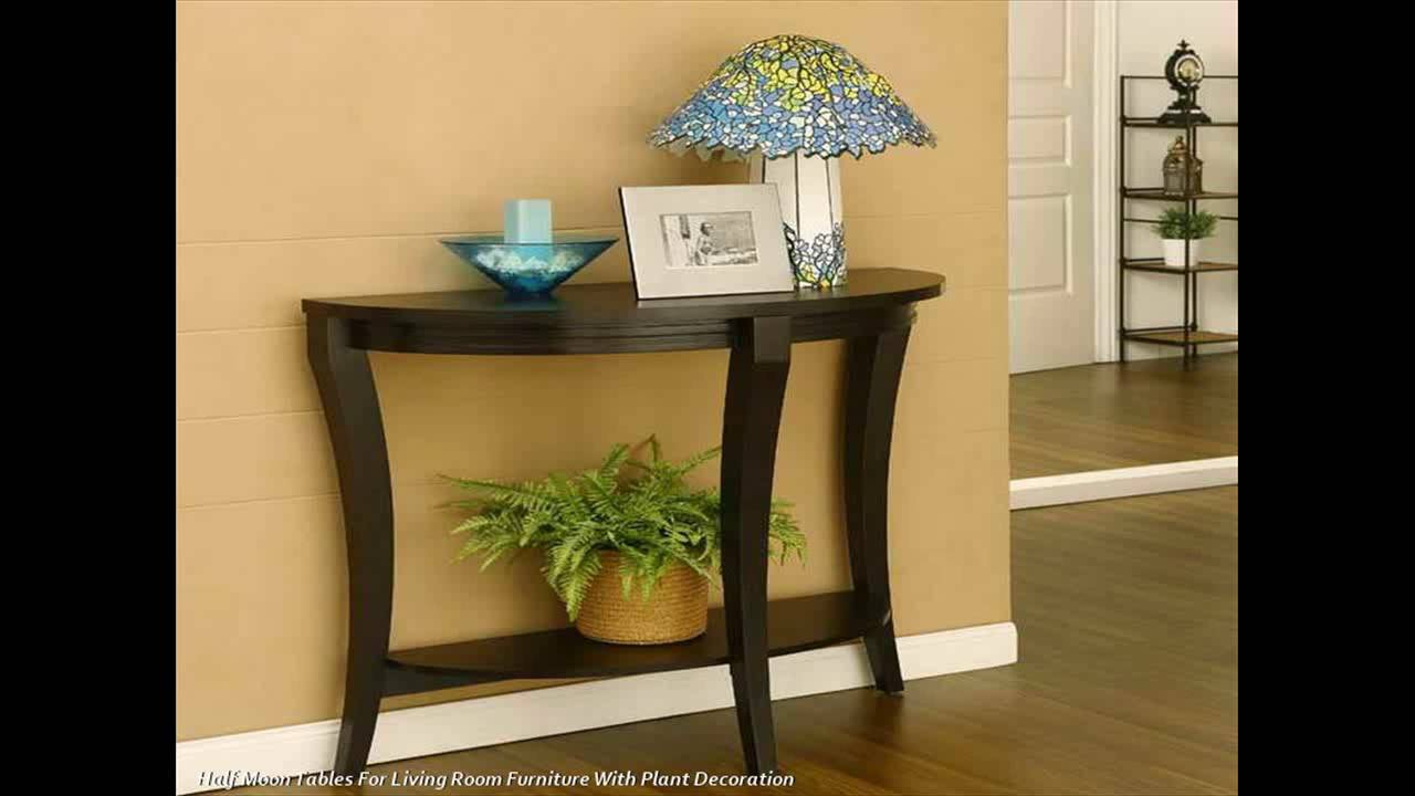 half moon tables living room furniture interior design pictures for in india staying space household youtube