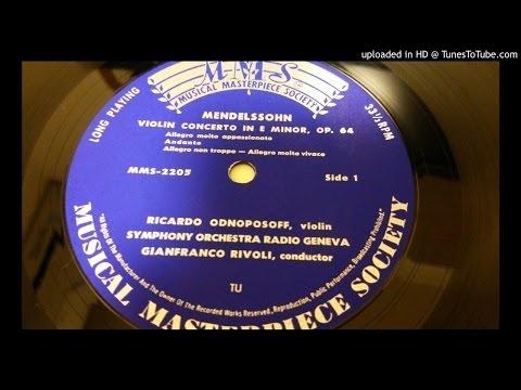 Mendelssohn: Violin Concerto by Ricardo Odnoposoff
