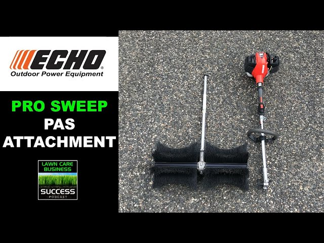 ECHO Pro Sweep PAS Attachment Demonstration